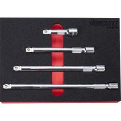 """3/8"""" Drive Wobble Extension Bar Set 4 Pce BX544-R2"""