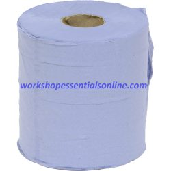 Blue Paper Wipes - Small Rolls Pack of 6 150m Rolls. VC529