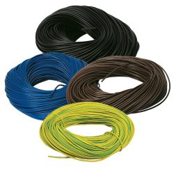 Cable Sleeving PVC Earth/Blue/Brown/Black Various Sizes2-25mm/Lengths