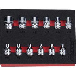 "3/8"" drive E-Torx Socket Set 12 Pieces. BOXO BX265-R2"