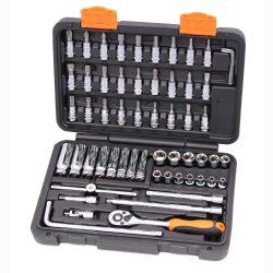 "1/4"" Drive Socket Set 6 Point 59 Pce Franklin Tools XF1059"