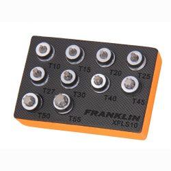 """3/8"""" Drive Low Profile Torx Bit Socket Set 10 Pc Franklin Tools XFLS10"""
