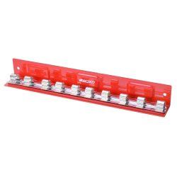 "1/2"" Drive Socket Holder Magnetic 'L' Type Tray Red 10 Pcs BOXO B-12LTRAY-R"