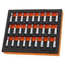 "1/4"" Drive Bit Socket Set 27 Pieces Franklin Tools XF027"