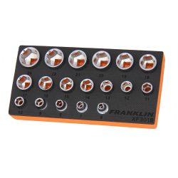 """3/8"""" Drive 6 Point Socket Set 18 Pcs Franklin Tools XF3018"""