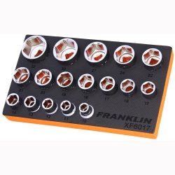 """1/2"""" Drive Socket Set 6 Point 17 Pcs Franklin Tools XF6017"""