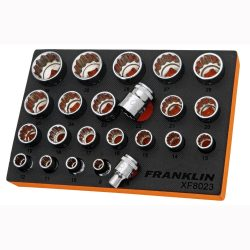"""1/2"""" Drive Socket Set 12 Point 23 Pcs Franklin Tools XF8023"""