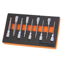 """3/8"""" Drive Long Ball End Hex Bit Socket Set 9 Pcs Franklin Tools XFBH9"""