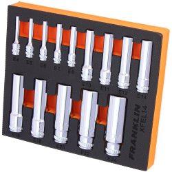 """1/4"""", 3/8"""" & 1/2"""" Drive E-Torx Deep Socket Set Franklin Tools XFEL14"""