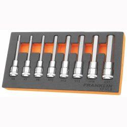 """1/2"""" Drive Long Hex Bit Socket Set 8 Pcs Franklin Tools XFHL8"""