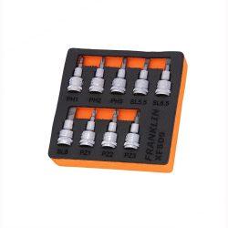 "3/8"" Drive Screwdriver Bit Socket Set 9 Pcs Franklin Tools XFSD9"