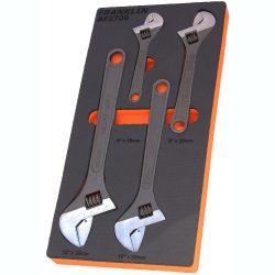 """Adjustable Spanner/Wrench Set 6"""", 8"""", 10"""" & 12"""" Franklin Tools AF2709"""