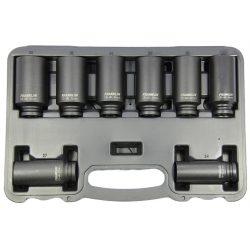 "1/2"" Drive Impact Hub Nut Deep Thinwall Set 8 Pcs 12 Pt Franklin Tools AT818"