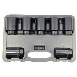 "1/2"" Drive Deep Impact Socket Set 7 Pcs 6 Point Franklin Tools TA8017"