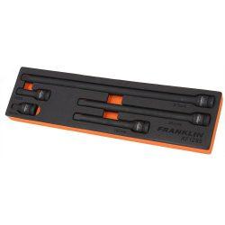 """1/2"""" Drive Impact Extension Bar Set 5 Pcs Franklin Tools XF1295"""