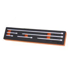 """1/4"""" Drive Extension Bar Set 6 Pcs Franklin Tools XF1466"""