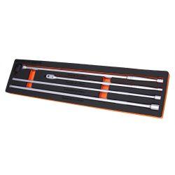 "Breaker Bar & Extension 4 Pce Set 3/8"" & 1/2"" Drive Franklin Tools XFA100"