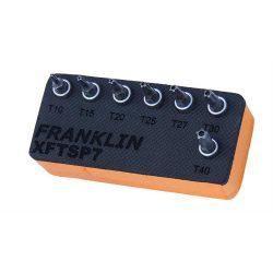 "1/4"" Drive 5 Point Tamperproof Torx Bit Set in foam Franklin Tools XFTSP7"