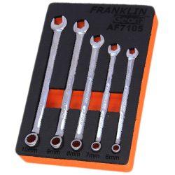 Combination Spanner Set XL 12 Pt 5 Pce Grip 4+ Franklin Tools 6-10mm AF7105