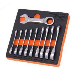 Stubby Ratchet Spanner Set 10 Pce 12 Point Franklin Tools AF7200