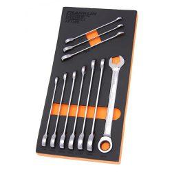 Combination Ratchet Spanner Set 10 Pc 12 Point Grip 4+ Franklin Tools AF7300
