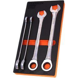 Combination Ratchet Spanner Set 4 Pc 12 Pt 21-27mm Grip4+ Franklin Tools AF7304