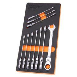 Flexi Ratchet Combination Spanner Set 10 Pc 12 Pt 10-19mm Franklin Tools AF7500