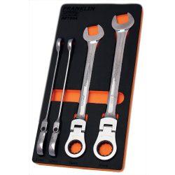Flexi Ratchet Combination Spanner Set 4 Pc 12 Pt 21-27mm Franklin Tools AF7504