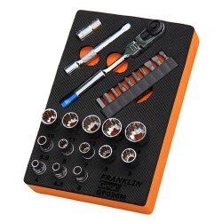 "1/4"" Drive Mini Ratchet & Multidrive Socket Set 26 Pce Franklin Tools GF026M"