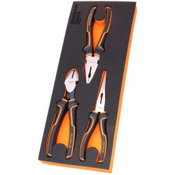 """Plier Set 8"""" 3 Pce-Long Nose, Side Cutting & Combination Franklin Tools GF308"""