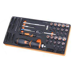 """1/4"""" Drive Master Screwdriver & Mini Ratchet Set 106 Pc Franklin Tools GFS106"""