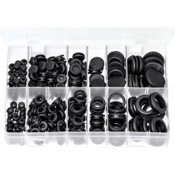 Blanking & Wiring Grommets Black PVC Pack of 250 AB244