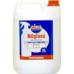 NILCO 'Nilglass' Glass & Mirror Cleaner 2 x 5 Litre Containers NIL5