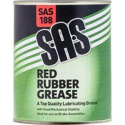 Red Rubber Grease SAS 500g Tin SAS188
