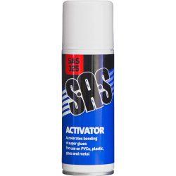 Super Glue Activator SAS 6 x 200g Aerosol Increases cure speed of glue SAS325-6