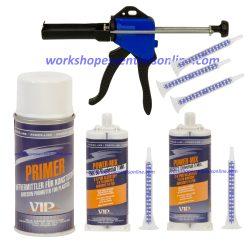 VIP Power Mix Adhesive -Black/Clear Nozzles Applicator gun Primer VIP25+